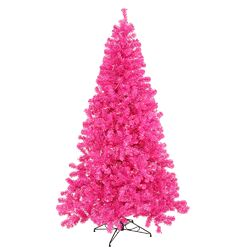 6' Hot Pink Pine Tree Artificial Christmas Tree with 350 Single Colored Light
