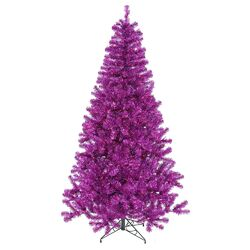 4' Purple Artificial Christmas Tree with 150 Single Colored Light