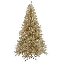 Champagne 6' Artificial Christmas Tree with 350 Clear Mini Lights with Stand