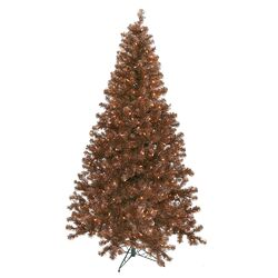 4' Mocha Artificial Christmas Tree with 150 Clear Lights