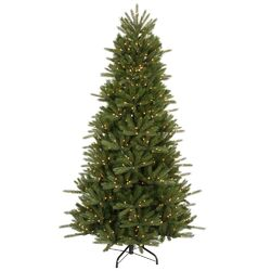 Vermont Instant Shape 6.5' Green Artificial Christmas Tree with 500 Multicolored Dura-Lit Mini ...