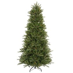 Vermont Instant Shape 8.5' Green Artificial Christmas Tree with 850 Multicolored Dura-Lit Mini ...