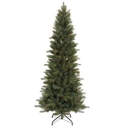 Blue Spruce Instant Shape 7.5' Green Artificial Christmas Tree with 450 Multicolored Dura-Lit ...