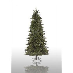 Camdon Fir 8.5' Green Slim Fir Artificial Christmas Tree with 800 Pre-Lit Clear Lights with ...
