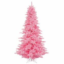 7.5' Pink Fir Artificial Christmas Tree with 750 Mini Lights
