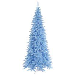 4.5' Sky Blue Slim Fir Artificial Christmas Tree with 200 Mini Lights