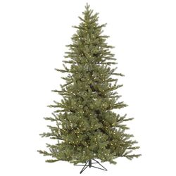 Baldwin 6.5' Green Spruce Artificial Christmas Tree with 450 LED Warm WhiteLights with Stand