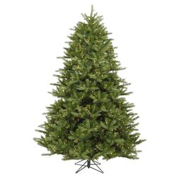 Majestic 9' Green Frasier Artificial Christmas Tree with 1350 Dura-Lit Clear Lights with Stand