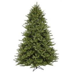 Majestic 7' Green Frasier Artificial Christmas Tree with 1150 LED White Lights with Stand