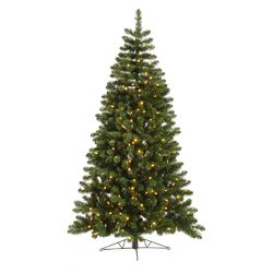 Grand Teton 7.5' Green Half Artificial Christmas Tree with 250 LED White Lights