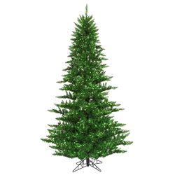 9' Tinsel Green Fir Artificial Christmas Tree with 1000 Mini Lights