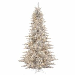 5.5' Silver Fir Artificial Christmas Tree with 400 Mini Clear Lights