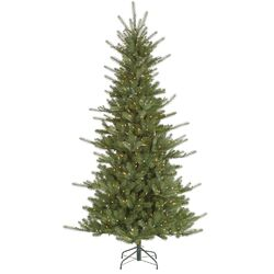 Colorado 7.5' Green Slim Spruce Artificial Christmas Tree with 650 Dura-Lit Clear Lights with ...