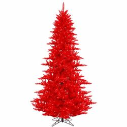 9' Red Fir Artificial Christmas Tree with 1000 Mini Lights