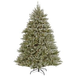 5.5' Green Hampton Fir Artificial Christmas Tree with 400 Dura-Lit Clear Lights with Stand and ...