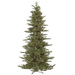 Austrian 7.5' Green Fir Slim Artificial Christmas Tree with 500 Dura-Lit Clear Lights with ...