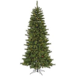 6' Green Newport Mix Pine Artificial Christmas Tree with 250 Multicolored Mini Lights with ...
