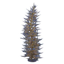 Colorful Laser 4' Champagne Artificial Christmas Tree with 70 Clear Lights