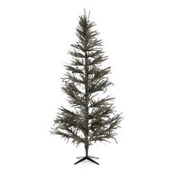 Vienna Twig 6' Green Slim Artificial Christmas Tree with Metal Stand