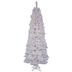 Salem 6.5' Artificial Christmas Tree with 180 LED White Lights and Stand