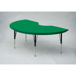 Kidney Shaped Plastic Activity Table with Standard Legs