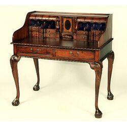 Prestington mahogany bureau desk reviews wayfair uk for Meuble chippendale