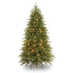 Pre-Lit 7.5' Medium Weeping Spruce Artificial Christmas Tree with 750 Pre-Lit Clear Lights with ...