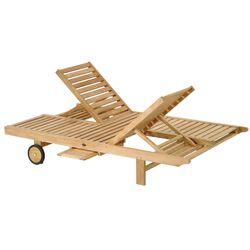 Teak Azur Double Chaise Lounge