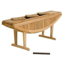Teak Altaro Oval Drop Leaf Table