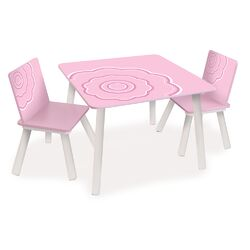Classically Cool Blossom Kids 3 Piece Table and Chair Set