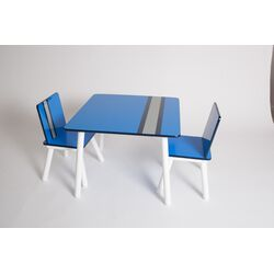 Classically Cool Racing Stripes Kids 3 Piece Table and Chair Set