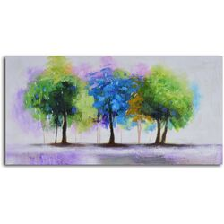 'Blue and Green Copse' Original Painting on Canvas