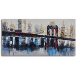 'Bridge to Downtown' Original Painting on Canvas
