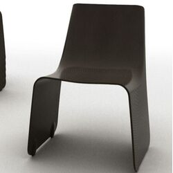 Carbon Slip Side Chair