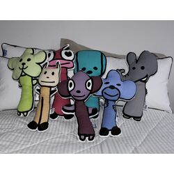 Figure Pillow Set of 7 (1 of Each Character)