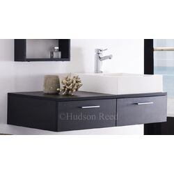 Hudson Reed Black Wood Levity Basin and Cabinet