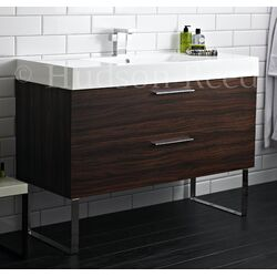 Hudson Reed Principal Basin and Cabinet in Walnut