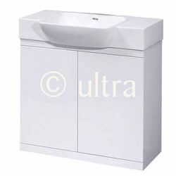 Ultra Lux Basin and Cabinet in High Gloss White