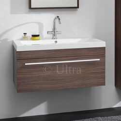 Ultra Glide Bathroom Basin and Cabinet in Walnut