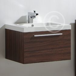 Ultra Glide Basin and Cabinet in Walnut