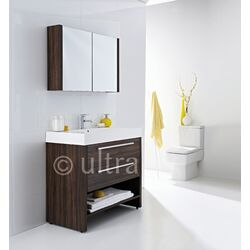 Ultra Harbour Basin and Cabinet in Walnut
