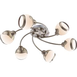 Home Essence Galvin 6 Light Ceiling Spotlight in Brass Antique