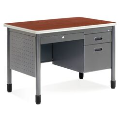 Executive Series Sales Computer Desk with Center Drawer