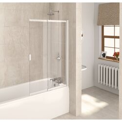 Aqualux 2 Panel Slider Bath Shower Screen