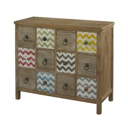 Squiggly Dee 12 Drawer Console