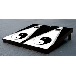 Yin Yang Cornhole Bean Bag Toss Game