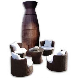 Geo-Vase Stacking 5 Piece Lounge Seating Group with Cushions