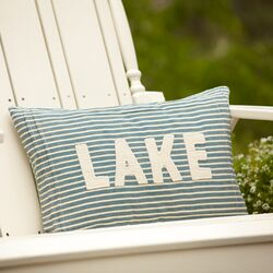 Montauk Lake Throw Pillow