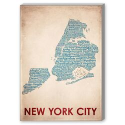 New York City Textual Art on Canvas