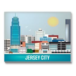 Jersey City Graphic Art on Canvas